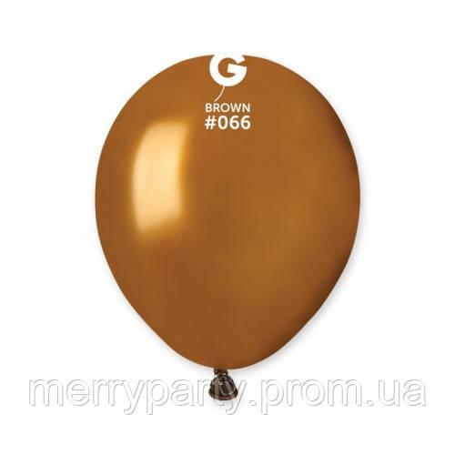 """5""""(13 см) металлик коричневый G-66 Gemar Италия латексный шар"""