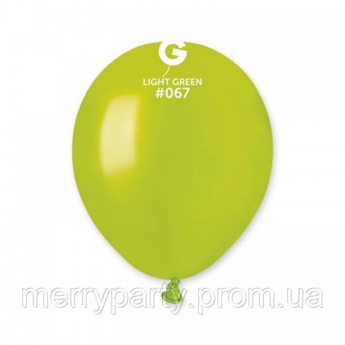 """5""""(13 см) металлик салатовый G-67 Gemar Италия латексный шар"""