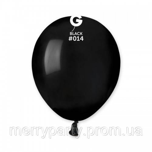 """5"""" (13 см) пастель черный G-14 Gemar Италия латексный шар"""
