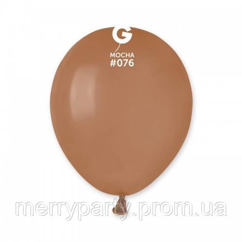 """5"""" (13 см)  пастель мокко  G-76 Gemar Италия латексный шар"""