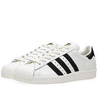 Мужские кроссовки Adidas Superstar white-black-gold