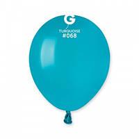 """5"""" (13 см) пастель бирюзовый G-68 Gemar Италия латексный шар"""