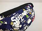Сумка на пояс Бананка Барыжка Supreme Суприм Snoopy Dog Темно-синяя, фото 3