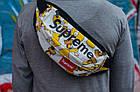 Сумка на пояс Бананка Барыжка Supreme Суприм Simpson Bart Симпсон Барт Белая, фото 3