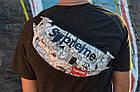 Сумка на пояс Бананка Барыжка Supreme Суприм Город Улица Белая, фото 2