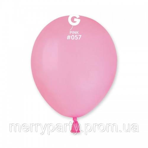 """5"""" (13 см) пастель светло-розовый G-57 Gemar Италия латексный шар"""