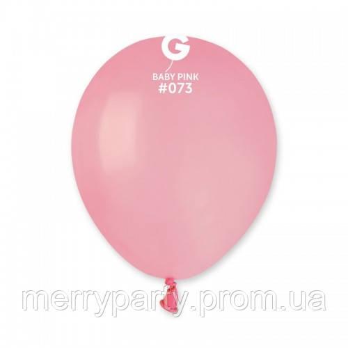 """5"""" (13 см) пастель розовый матовый G-73 Gemar Италия латексный шар"""