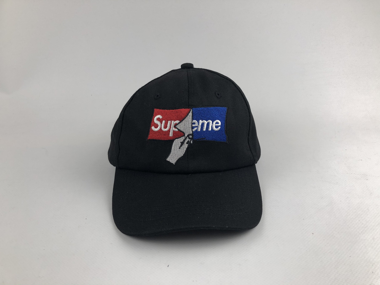 Кепка бейсболка Supreme страница (черная)