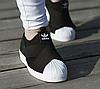 Мужские кроссовки Adidas Superstar Slip On black-white