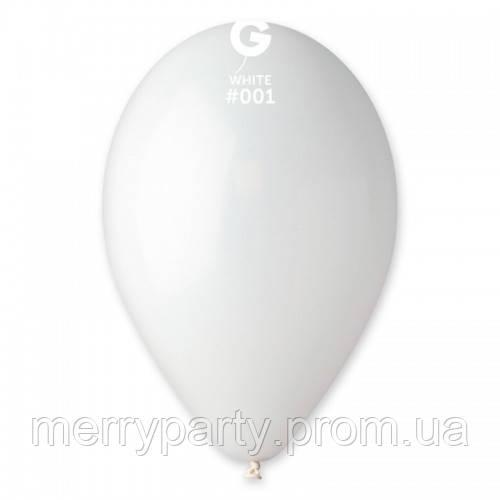 """10"""" (26 см) пастель белый Gemar Италия G-01 латексный шар"""