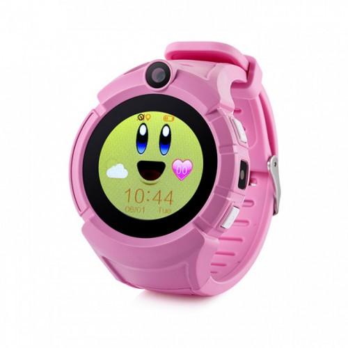 Дитячі розумні годинник-телефон з GPS трекером Baby Smart Watch Q360 (Q610) Original Рожеві