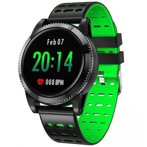 Умный фитнес браслет Smart Band PRO M11 Original с тонометром черно-зеленый