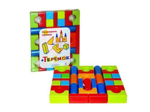 """Детская развивающая игрушка - конструктор кубики """"Теремок"""" (39 дет) 08073"""