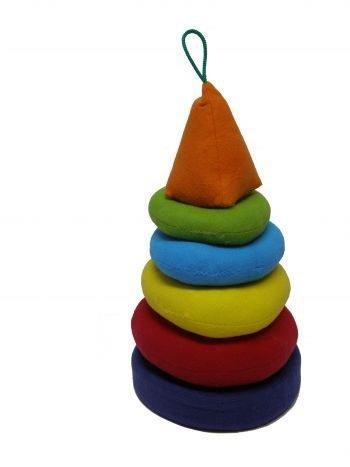 """Детская развивающая игрушка - Пирамида-мякиш """"умник"""""""