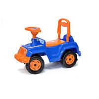 Детская каталка толокар Машинка 4 х 4 (сине-оранжевая) 549_С