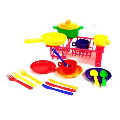 """Детский игровой набор посуды """"Юная хозяюшка"""", 19 элементов 048/9"""