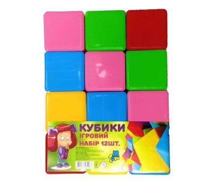 Детская развивающая игрушка - Кубики цветные, 12 штук 14067