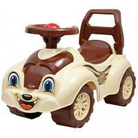Детская каталка толокар Машинка-каталка для прогулок (коричневая) 2315