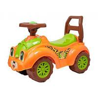 Детская каталка толокар Машинка-каталка для прогулок (оранжевая) 3268