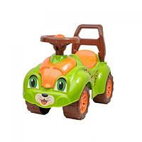 Детская каталка толокар Машинка-каталка для прогулок (салатовая) 3428