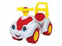 Детская каталка толокар Машинка для прогулок (белая) 3503