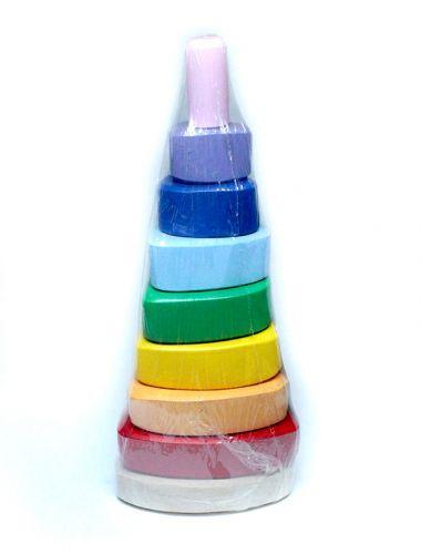 Детская развивающая игрушка - пирамидка треугольная Д008у