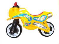 "Детская каталка толокар ""Мотоцикл"" (оранжевый) KW-11-006 ОДА"