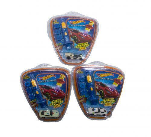 """Детская игрушечная Машинка """"Hot Wheel"""", меняет цвет (с 4-мя насадками) EG757-1"""