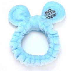 """Детская плюшевая повязка на голову """"Cool"""" (голубой) BA1055"""