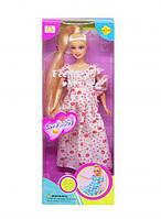 """Дитяча Лялька """"Defa. Вагітна"""" (плаття в квіточку) 6001"""