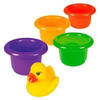 Дитячі Іграшки для ванної Пірамідка-стаканчики 57110