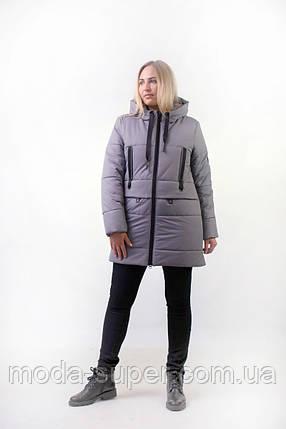 Зимняя куртка с манжетами   рр 44-52, фото 2