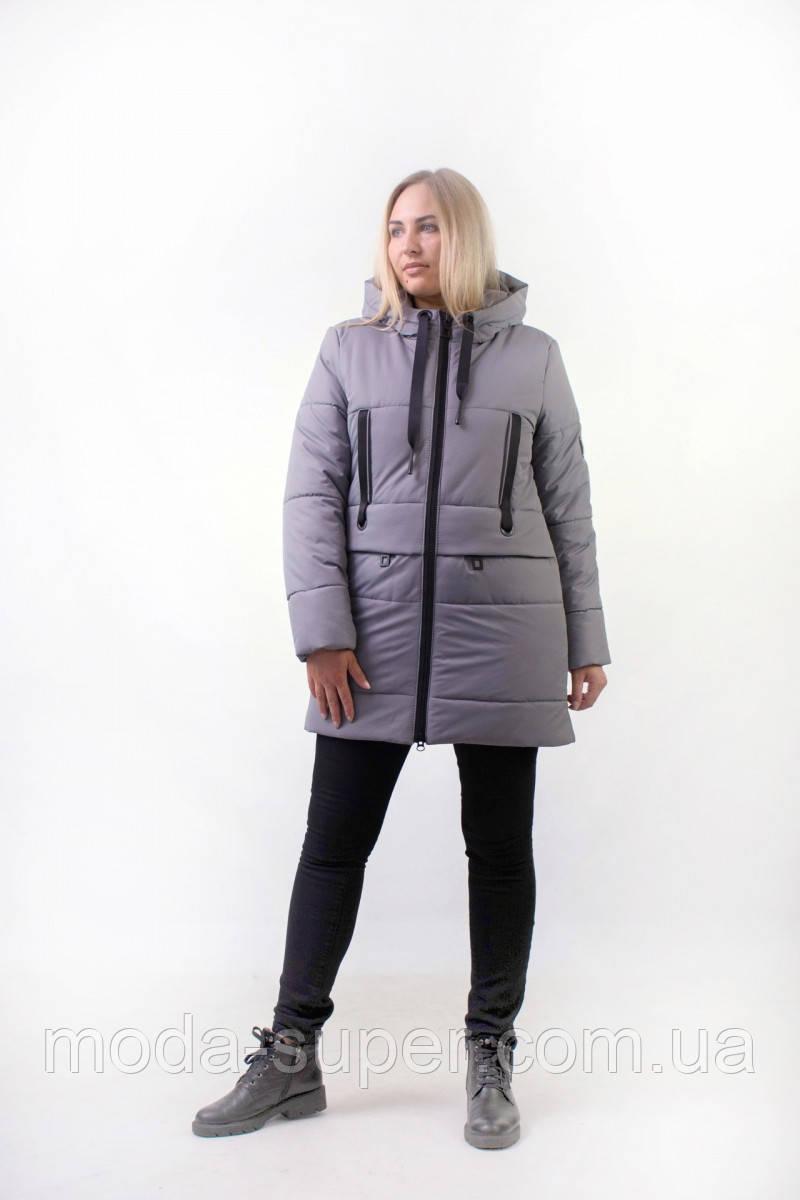Зимняя куртка с манжетами   рр 44-52
