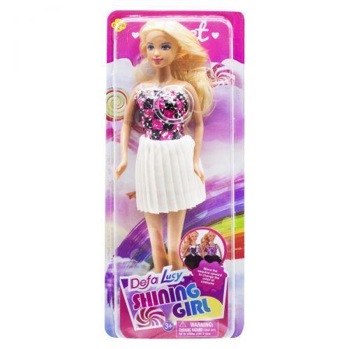 Детская Кукла Defa Lucy Shining Girl, белая юбка 8434