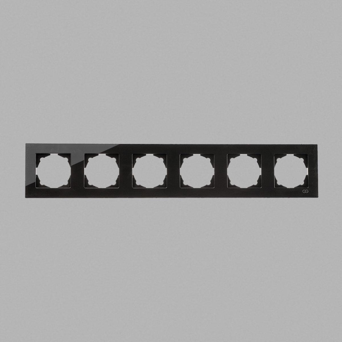 Eqona Рамка 6-я черная матовая