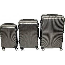 Комплект чемоданов № BL-227  Тёмно-серый