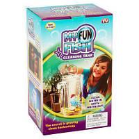 Аквариум мини с системой самоочищения My Fun Fish/ аквариум с подсветкой 2 л