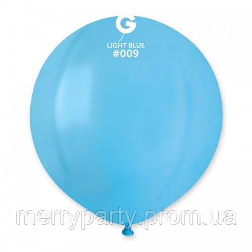 """19"""" (48 см) пастель светло-голубой G-09 Gemar Италия латексный шар"""