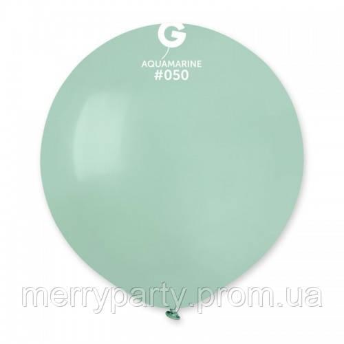 """19"""" (48 см) пастель аквамарин G-50 Gemar Италия латексный шар"""