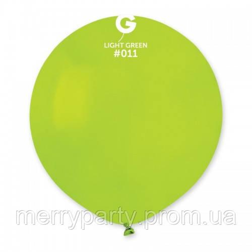 """19"""" (48 см) пастель салатовый G-11 Gemar Италия латексный шар"""