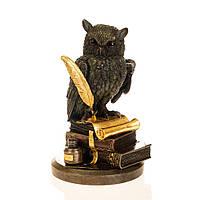 """Сова на книге с золотым пером""""  23 см """"Veronese"""" 75033A5"""