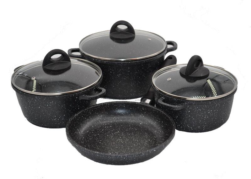 Набор посуды с мраморным покрытием Benson BN-313 на 7 предметов