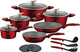 Набор посуды с мраморным покрытием Edenberg EB-5621 на 15 предметов с 5-слойным дном