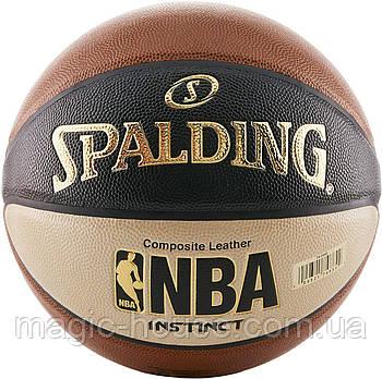 Мяч баскетбольный Spalding NBA Instinct Composite 29.5 Basketball оригинал размер 7 композитная кожа