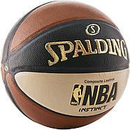 Мяч баскетбольный Spalding NBA Instinct Composite 29.5 Basketball оригинал размер 7 композитная кожа, фото 2