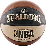 Мяч баскетбольный Spalding NBA Instinct Composite 29.5 Basketball оригинал размер 7 композитная кожа, фото 3