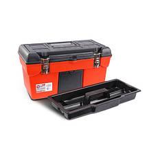 """Скринька для інструментів з металевими замками 19"""" 483x242x240 мм INTERTOOL BX-1119"""