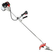 Мотокоса 1.5 кВт/2 л.с., 43 см³, катушка, 3-х лопастной нож, фреза 40 зубъев, двухплечевой ранцевый ремень INTERTOOL DT-2232, фото 2