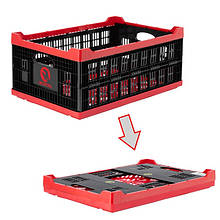 Ящик складний, пластиковий, завантаження 30 кг, 47 л., 600*400*260 мм, матеріал 100% первинний харчової ПЕ