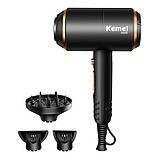 Професійний фен для волосся Kemei KM-8896 з дифузором 4000 Вт, фото 3